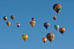 Raça do balão de ar quente de Reno Foto de Stock Royalty Free