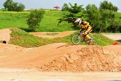 Raça do carnaval 2010 BMX da bicicleta de montanha de Singapore Foto de Stock