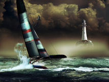 Raça do catamarã ilustração do vetor
