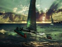 Raça do catamarã Fotos de Stock Royalty Free