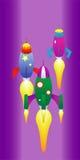 Raça do foguete de espaço Fotografia de Stock Royalty Free