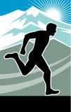 Raça do funcionamento do corredor de maratona ilustração royalty free