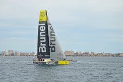 Raça 2014 - do oceano de Volvo Team Brunel 2015 Fotografia de Stock