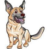 Raça do pastor alemão do cão dos desenhos animados Imagem de Stock Royalty Free