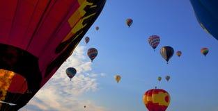 Raça dos balões de ar quente Foto de Stock