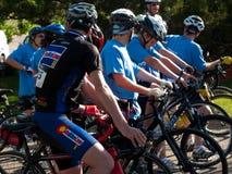 Raça dos ciclistas Fotografia de Stock