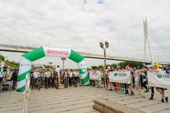 Raça dos desportistas em bicicletas Tyumen Rússia Fotos de Stock