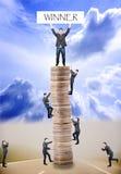 Raça dos homens de negócios Imagens de Stock Royalty Free