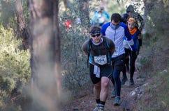 Raça dura da montanha da maratona, escalada do grupo Fotografia de Stock Royalty Free