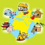 Raça e nações do mundo ilustração royalty free