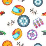 Raça e teste padrão da concessão, estilo dos desenhos animados Imagens de Stock Royalty Free