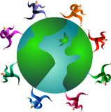 Raça global ilustração royalty free