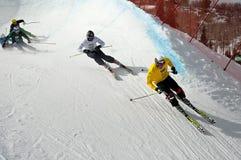 Raça nos X-Jogos de ESPN, 2011 da Esquiador-Cruz Foto de Stock Royalty Free