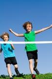 Raça running childring saudável Imagens de Stock Royalty Free