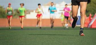 Raça running da maratona Imagens de Stock Royalty Free