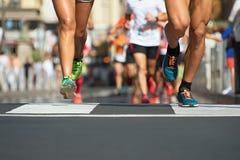 Raça running da maratona Fotos de Stock Royalty Free
