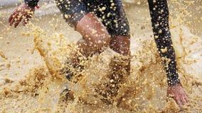 Raça running do obstáculo espartano Foto de Stock Royalty Free