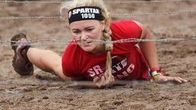 Raça running do obstáculo espartano Fotos de Stock
