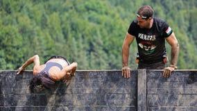 Raça running do obstáculo espartano Fotografia de Stock Royalty Free