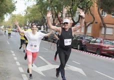 Raça Solidary em Múrcia, o 24 de março de 2019: Primeira raça da solidariedade nas ruas de Múrcia na Espanha imagens de stock royalty free