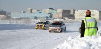 A raça Stars o rulyom de Za na estrada do gelo em Tushino Fotografia de Stock