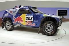 Raça Touareg de Volkswagen - de Genebra mostra 2010 de motor Foto de Stock