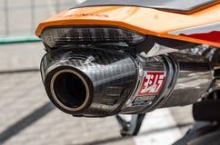 raças da motocicleta do Estrada-anel Imagem de Stock