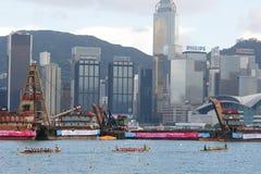 Raças de barco 2010 do dragão de Hong Kong Int'l Foto de Stock Royalty Free