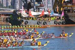 Raças de barco 2010 do dragão de Hong Kong Int'l Fotografia de Stock