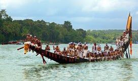 Raças de barco da serpente de Kerala Foto de Stock Royalty Free