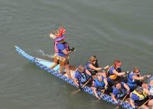 Raças de barco do dragão Fotografia de Stock Royalty Free