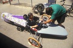 500 raças de carro solares e elétricas, AZ Imagens de Stock Royalty Free