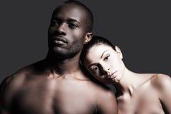 Raças diferentes e um amor Foto de Stock Royalty Free