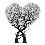 """Raíces del †abstracto del árbol del corazón las """"tejidas en corazón forman - vector y ejemplo Fotografía de archivo"""