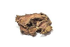 Raíz seca del rosea de Rhodiola en un fondo aislado blanco foto de archivo libre de regalías
