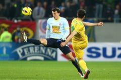 FC Steaua Bucarest - FC Vaslui Fotografía de archivo libre de regalías