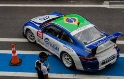 Ra?a de Porsche da f?rmula imagens de stock royalty free