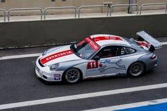 Ra?a de Porsche da f?rmula Fotografia de Stock Royalty Free