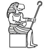 Ra, egyptian god. Art illustrationin golden colors: ra, the egyptian god of sun Royalty Free Stock Photography