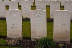 1ra guerra mundial del cementerio militar Flandes Imagen de archivo libre de regalías