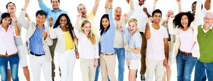 Raça humana dos povos da celebração do grupo Imagem de Stock Royalty Free