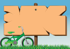Raad en fiets Royalty-vrije Illustratie