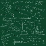 Raad met wiskundige formules Stock Fotografie