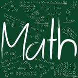 Raad met wiskundige formules Stock Afbeeldingen