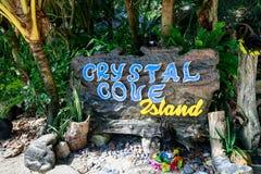 Raad van Crystal Cove in Boracay-Eiland royalty-vrije stock afbeelding