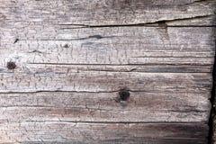 Raad van oud hout met schoenspijker Stock Afbeelding