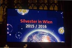 Raad voor de Nieuwjaarvooravond in Wenen 2015-2016 Stock Foto's