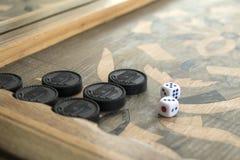 Raad voor een spel van backgammon royalty-vrije stock foto's