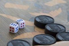 Raad voor een spel van backgammon royalty-vrije stock afbeelding