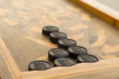 Raad voor een spel van backgammon stock fotografie